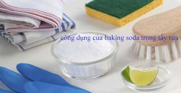 công dụng của baking soda và giấm trong tẩy rửa