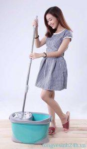 Cách lau nhà sạch bóng