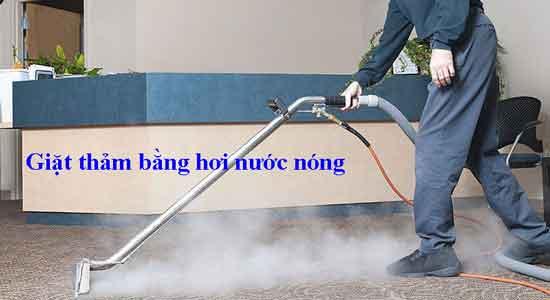 Giặt thảm bằng hơi nước nóng