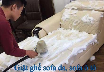 Giặt ghế sofa da cao cấp, ô tô